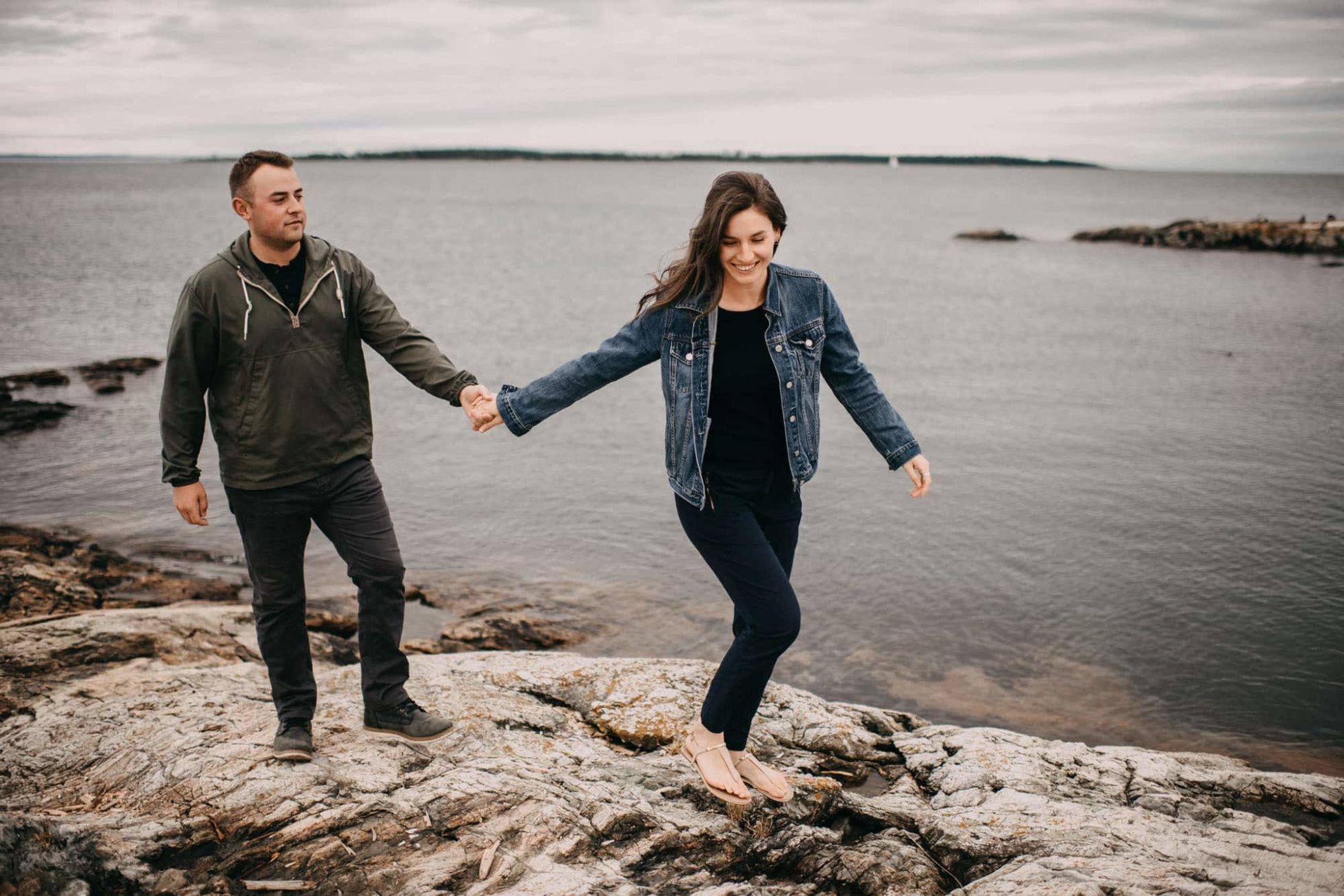 Candid Natural Best Wedding Photographers Victoria BC Engagement Photos Beach