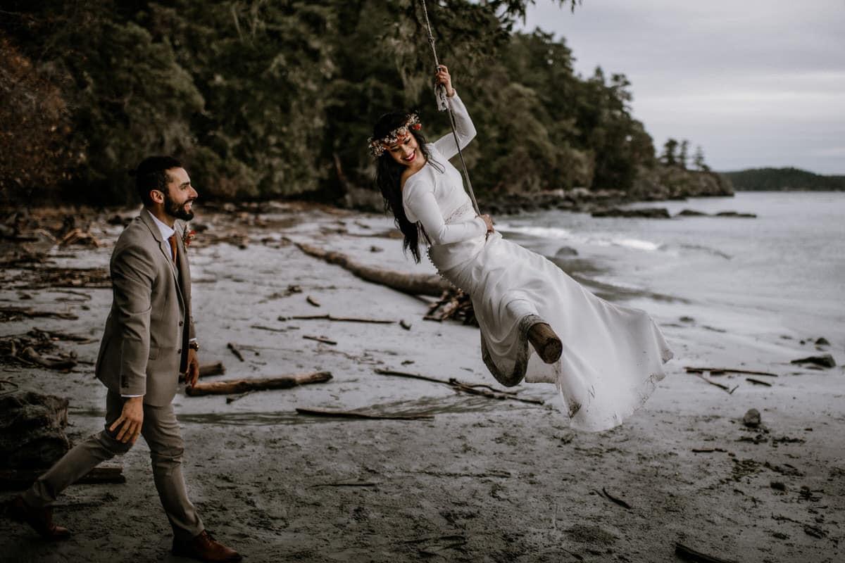 Wedding Photographer Victoria BC East Sooke Park